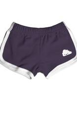 Whistle & Flute Kawaii Cloud Running Shorts in Grape