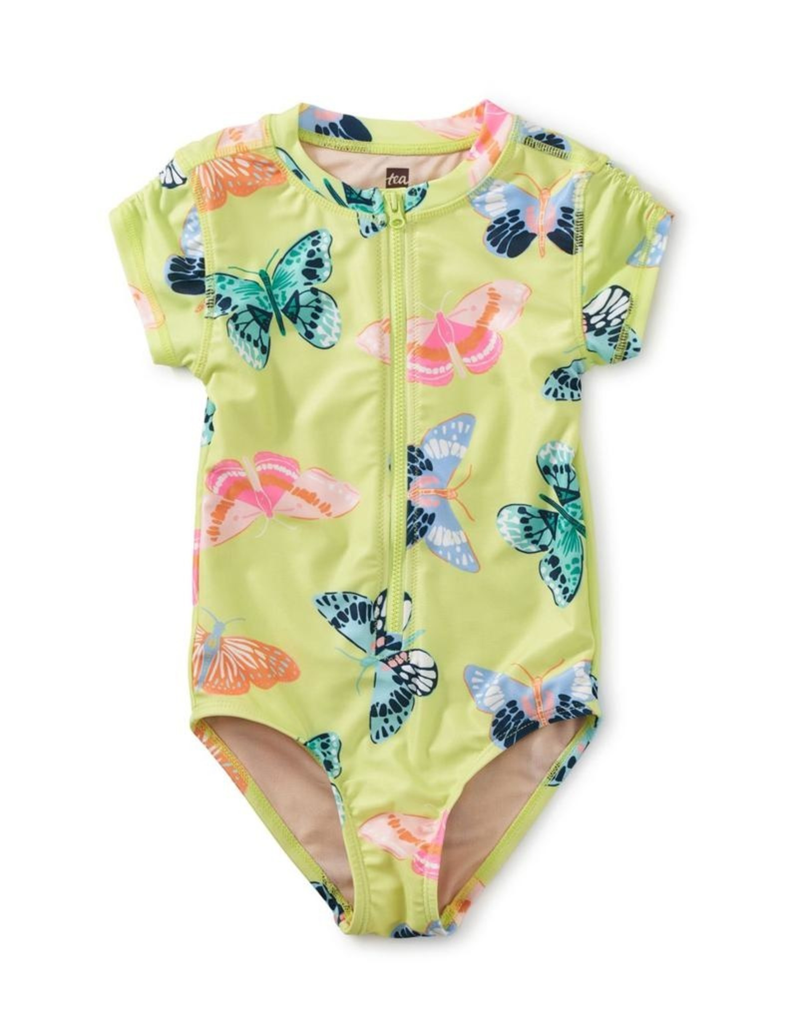 Tea Collection Butterfly Rash Guard One-Piece Swimsuit