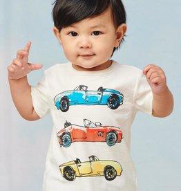Tea Collection Tea Collection, Fast Car Baby Graphic Tee, Chalk, (9-12mo)