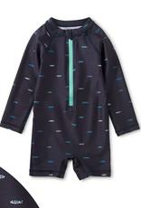 Tea Collection Sardine Print Rash Guard Baby Swimsuit