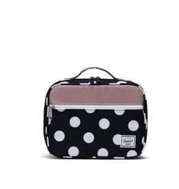 Herschel Supply Co. Popquiz Lunch Bag in Polka Dot Black and White/Ash Rose