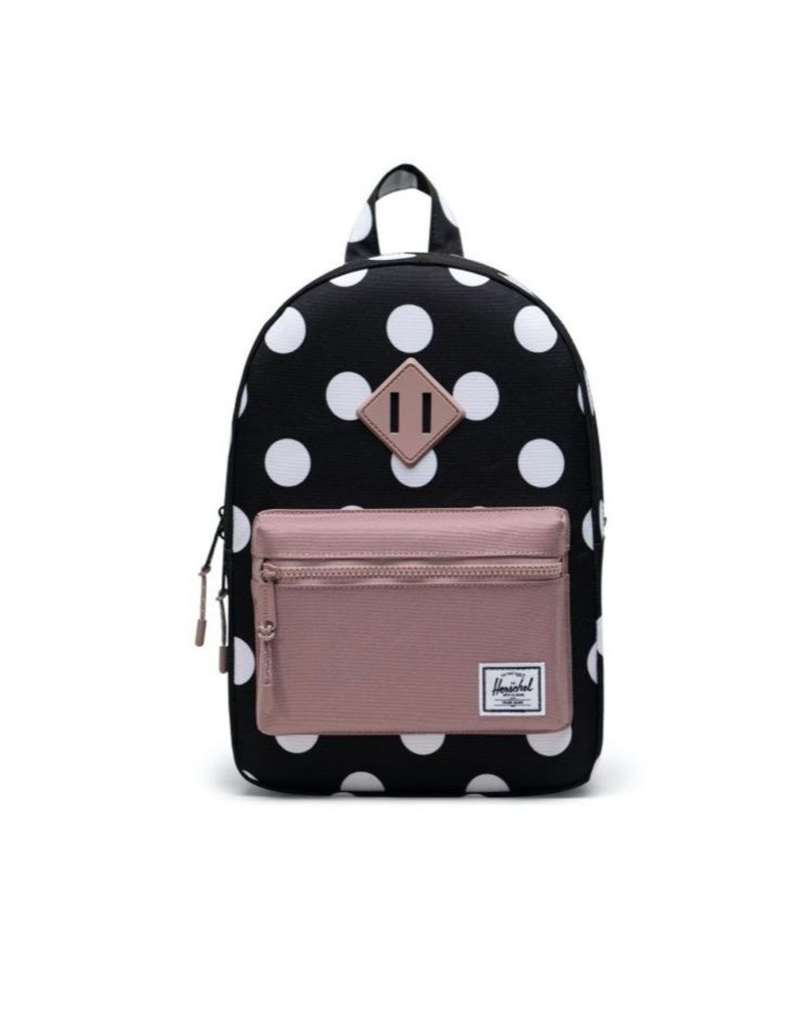 Herschel Supply Co. Heritage Backpack | Youth, Polka Dot Black and White/Ash Rose, 16L