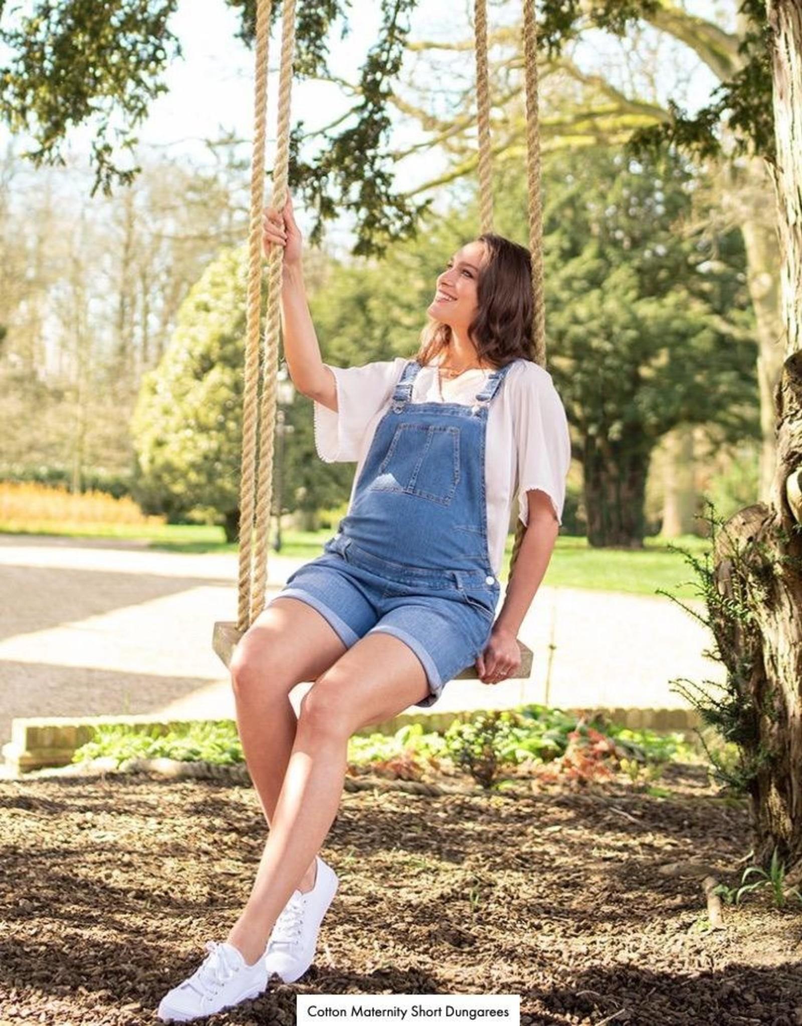 Seraphine Becca Cotton Maternity Short Overalls