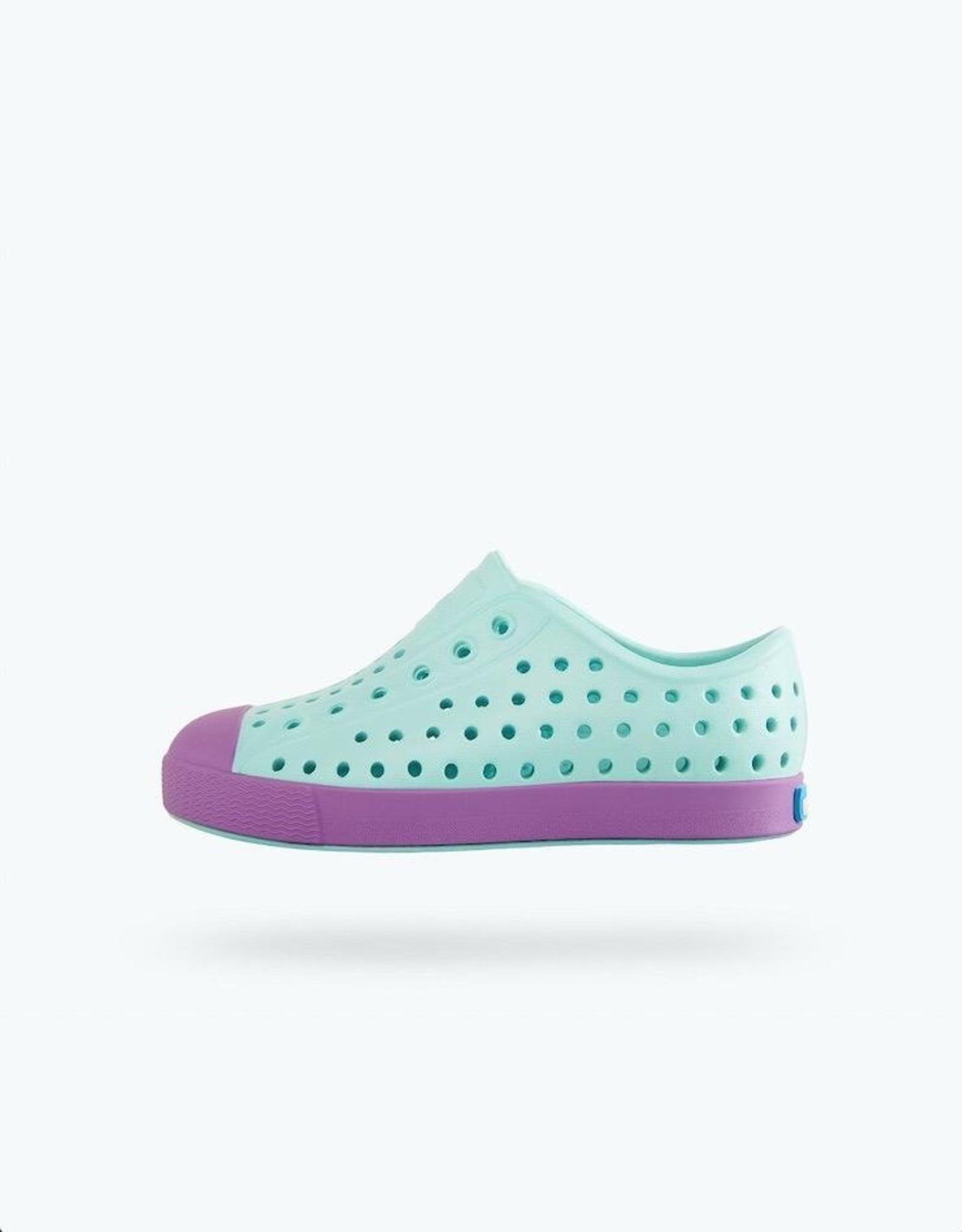 Native Shoes Jefferson Child in Piedmont Blue/ Sea Fan Purple