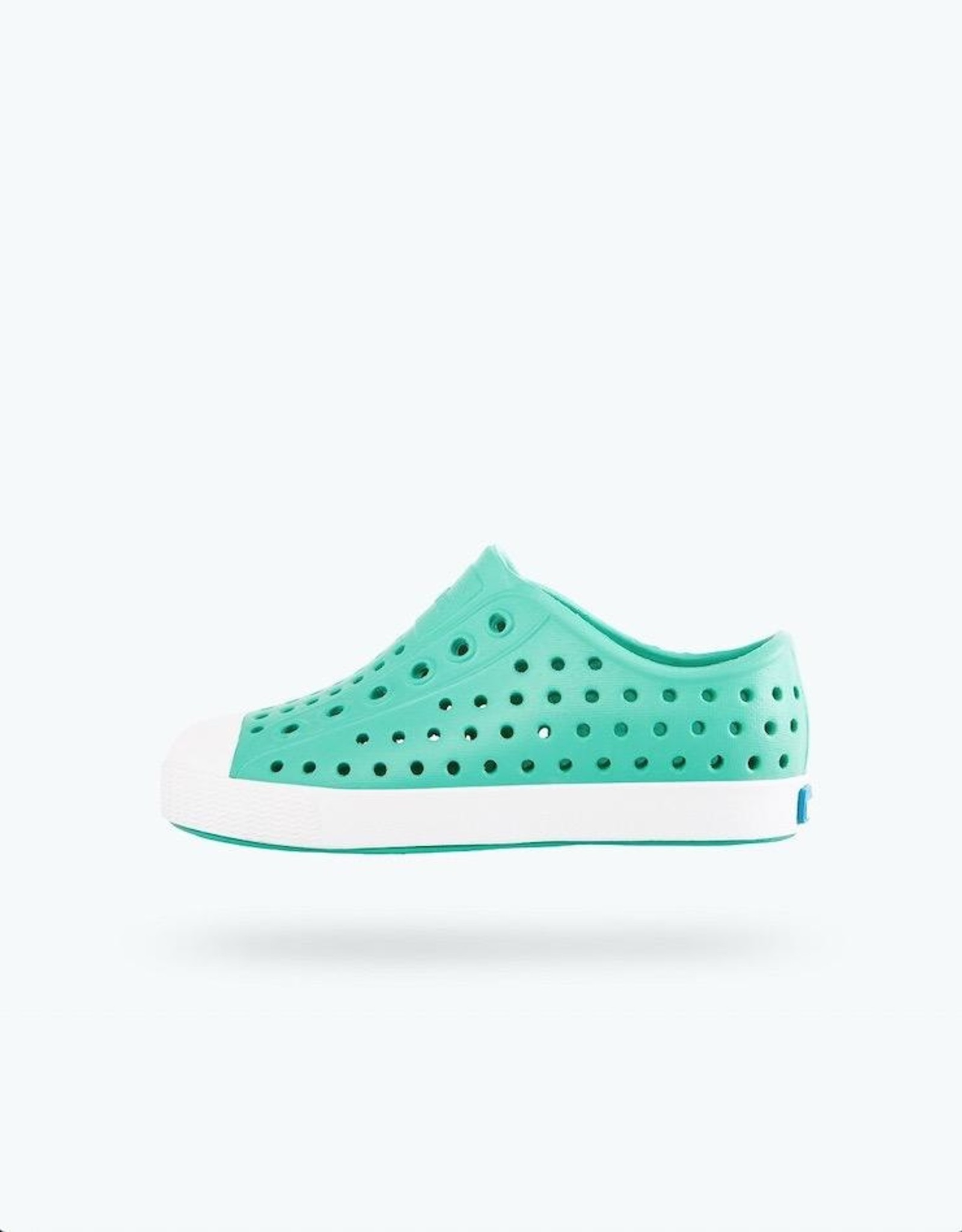 Native Shoes Jefferson Youth / Junior in Minty Green/ Shell White