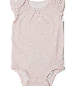 Loulou Lollipop Girl's Sepia Rose Floral Short Sleeve Bodysuit in TENCEL™
