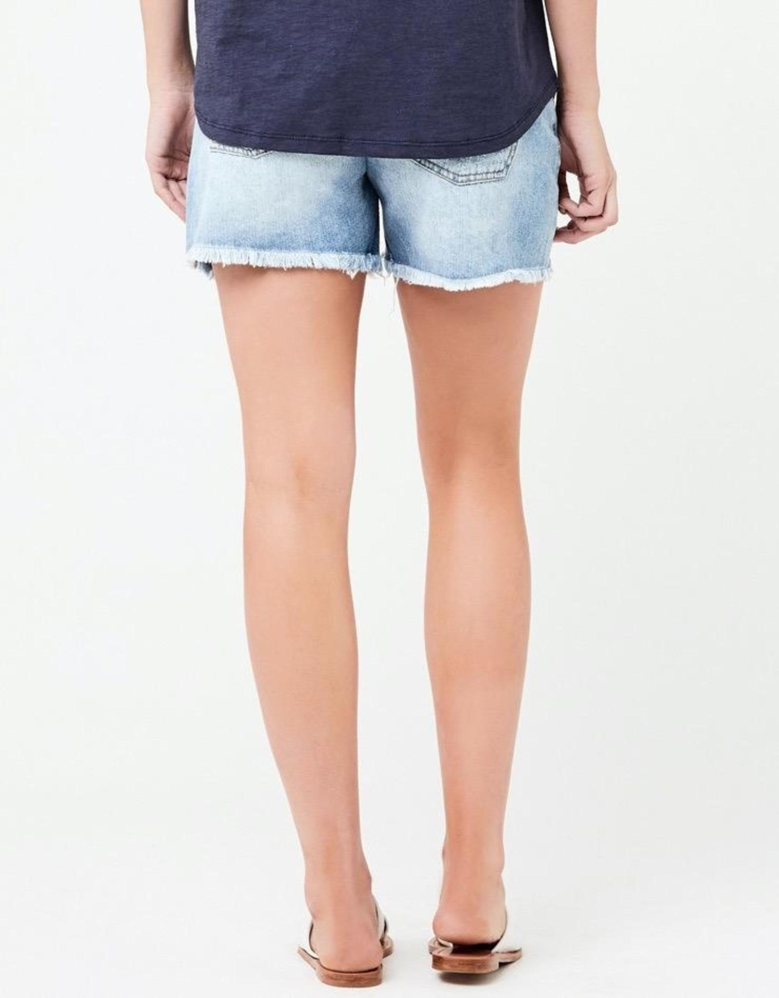 Ripe Maternity Distressed Denim Shorts