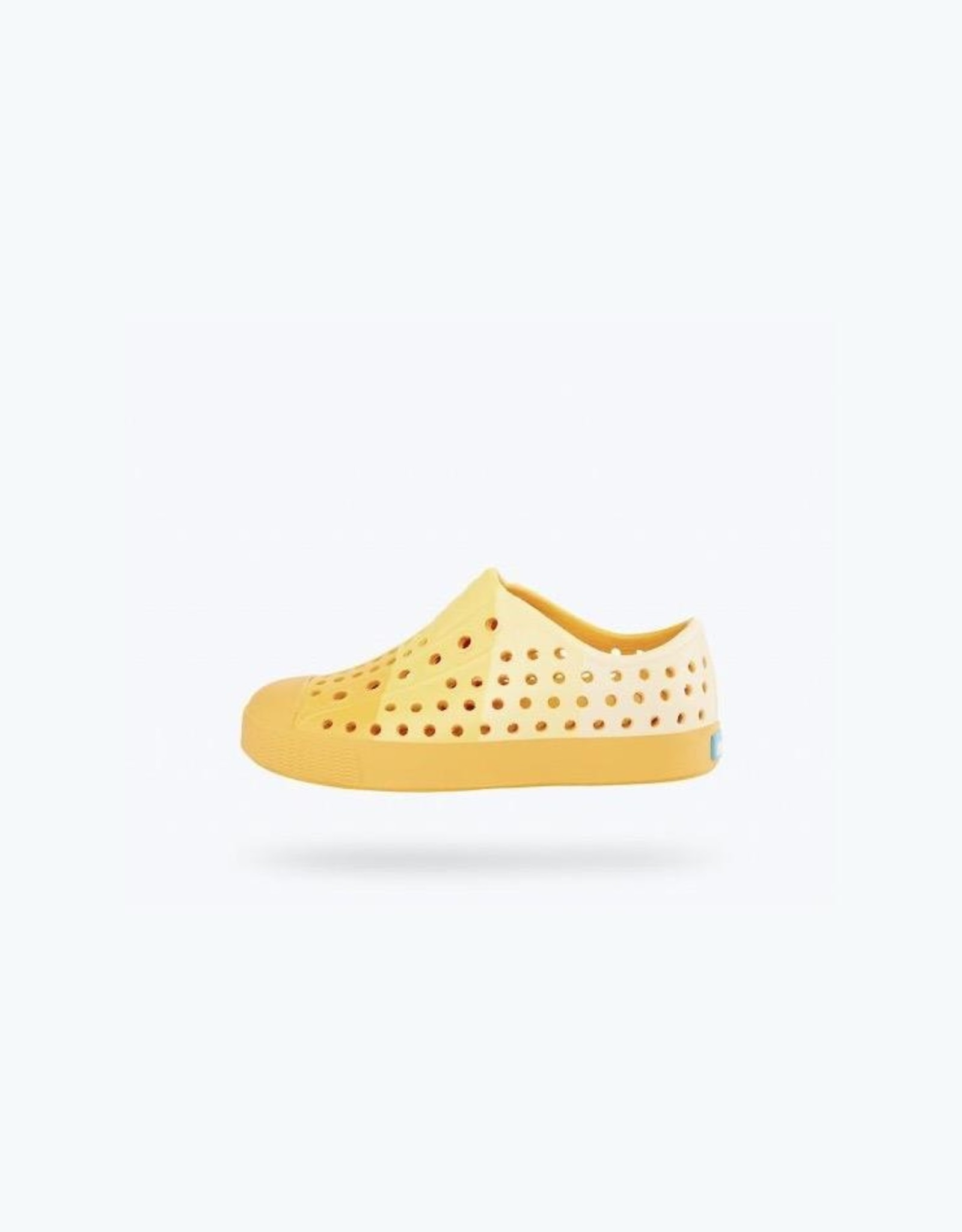 Native Shoes Crayola® Block Child Youth / Junior in Sunny Side Up Yellow/ Block Print