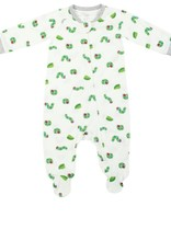 Nest Designs Bamboo Jersey One-Piece Zip Footed Sleeper - Eric Carle Curly Caterpillar