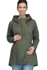 Modern Eternity Lara Military Style 3-In-1 Maternity Coat