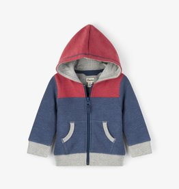 Hatley Colour Block Full Zip Baby Hoodie