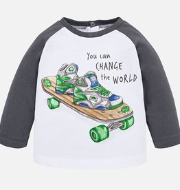 Mayoral Long Sleeved Skate Print T-Shirt for Baby Boy