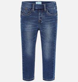 Mayoral Super Slim Fit Denim Trousers for Girl in Worn Denim