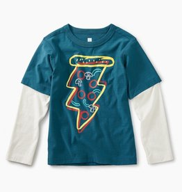 Tea Collection Pizza Layered Graphic Tee