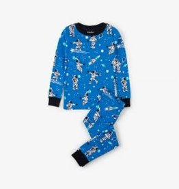 Hatley Hatley Long Sleeve PJ Set Athletic Astronauts Glow