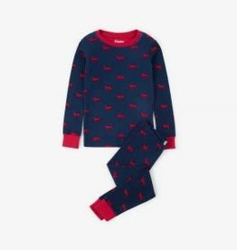 Hatley Hatley Long Sleeve PJ Set Red Labs