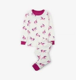 Hatley Hatley Long Sleeve PJ Set Majestic Unicorns