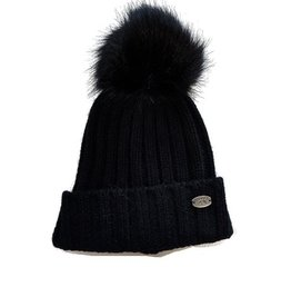 Calikids Calikids Faux Fur Pom Knit Hat