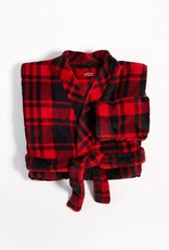 Petit Lem Petit Lem Plush Plaid Robe