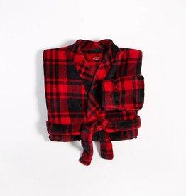 Petit Lem Petit Lem Plush Plaid Robe
