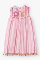 Hatley Hatley Pin Tuck Dress Floral Stripes