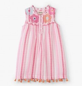 Hatley Hatley Pin Tuck Dress Floral Stripes