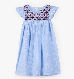 Hatley Hatley Embroidered Dress Nautical Stripes