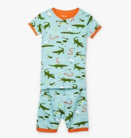 Hatley Hatley Short PJ Set Swamp Gators