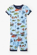 Hatley Hatley Short PJ Set Sea Monsters