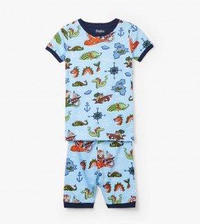 Hatley Hatley Short PJ Set Sea Monsters