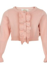 Creamie Creamie Pink Ruffle Short Cardigan