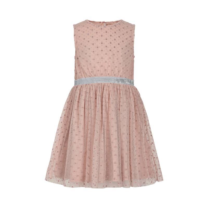 Creamie Creamie Tulle Glitter Dot Tank Dress Rose Smoke