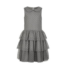 Creamie Creamie Tulle Glitter Dot Round Neck Dress