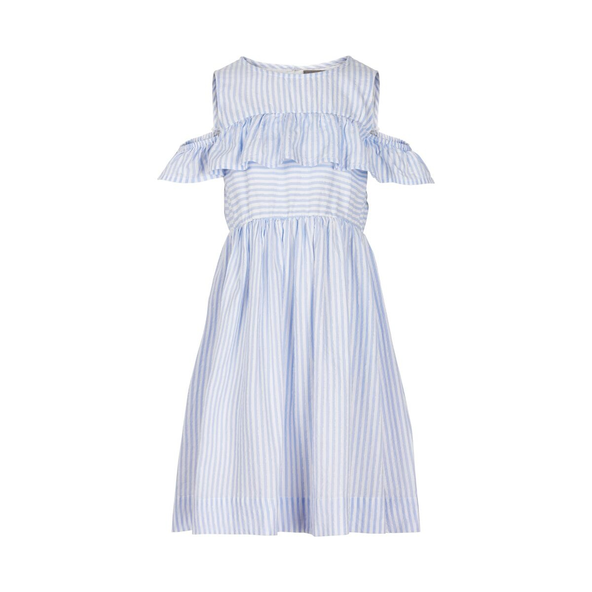 Creamie Creamie Cotton Stripe Dress Xenon Blue