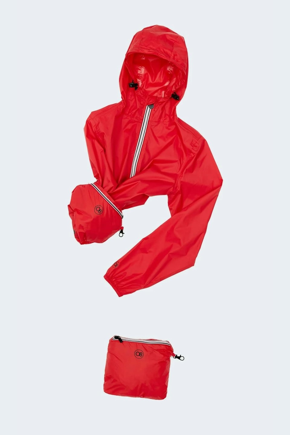 O8 packable jacket - packed