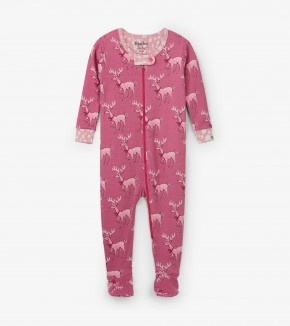 Hatley Hatley Footed Coverall Darling Deer