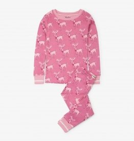 Hatley Hatley Long Sleeve PJ Set Darling Deer