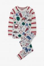 Hatley Hatley Long Sleeve Raglan PJ Set Winter Traditions