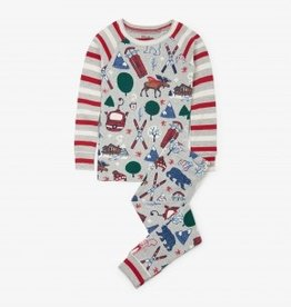 Hatley Hatley Long Sleeve Raglan PJ Set Winter Traditions