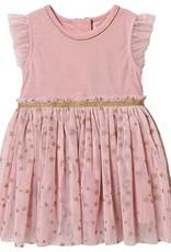 Minymo Minymo Glitter Star Tulle Dress