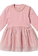 Minymo Minymo L/S Tulle Dress Blush Pink