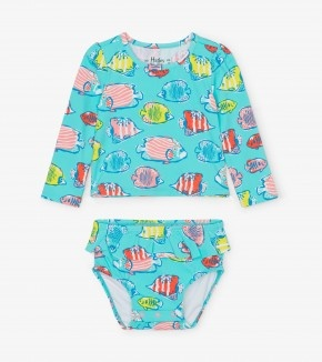 Hatley Hatley Colourful Fishies Baby Rashguard Set