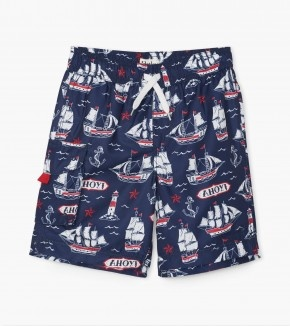 Hatley Hatley Nautical Ships Swim Trunks