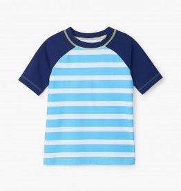 Hatley Hatley Blue Stripe S/S Rashguard