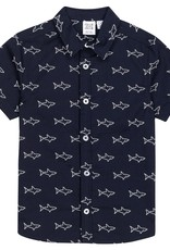 Deux par Deux Deux par Deux Collared Shark Shirt