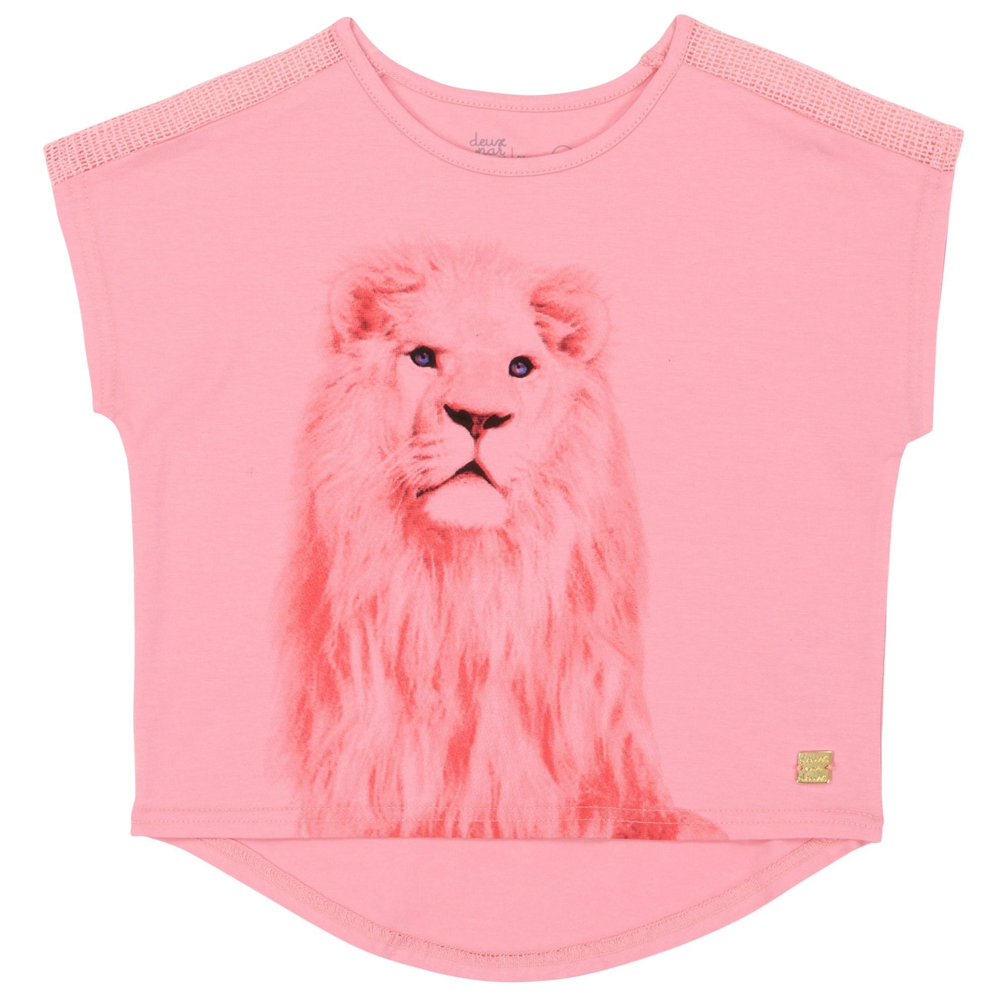 Deux par Deux Deux par Deux Pink Lion Tee