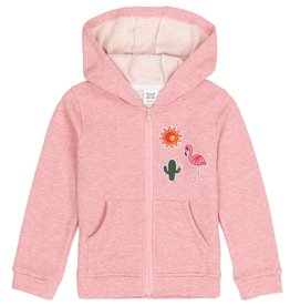 Deux par Deux Deux par Deux French Terry Hoodie Strawberry Ice