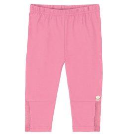 Deux par Deux Deux par Deux Pink Capri Legging w/ Lace