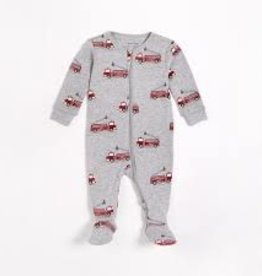 Petit Lem Petit Lem Footed Sleeper Firetruck