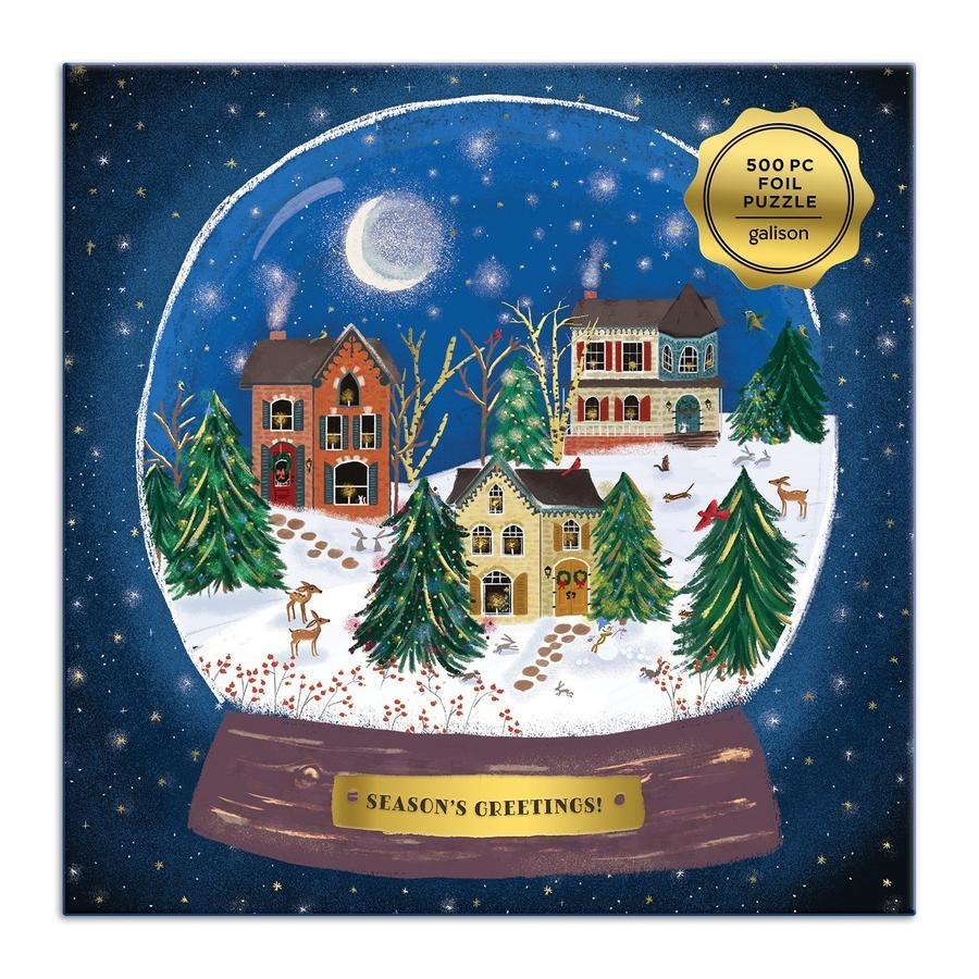 Galison Winter Snow Globe Puzzle 500pc